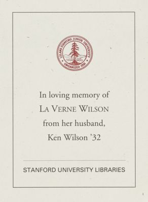 La Verne Wilson Memorial Book Fund