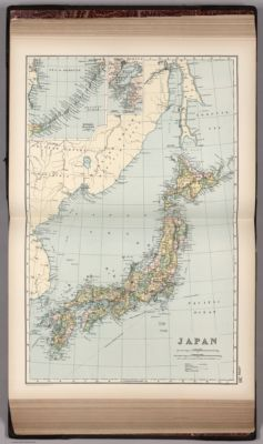 Japan. Copyright 1892 by Appleton & Co. (insets) Kurile Islands; Tokyo. (to             accompany) The Library Atlas Of Modern Geography ... New York, D. Appleton And Company             1892. (on upper margin) Japan 36