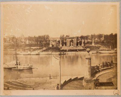 Porto di Ripetta, veduta generale del Tevere dalla gradinata del porto