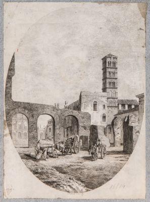 Basilica di Costantino entro ovale verticale