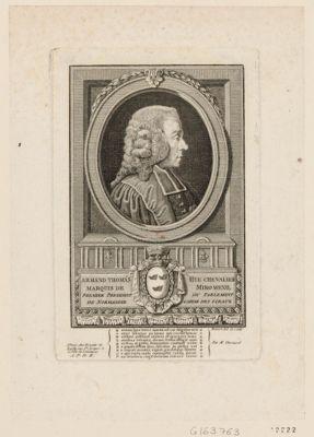 Armand Thomas Hue Chevalier marquis de Miromenil premier president du parlement de Normandie garde des sceaux : [estampe]