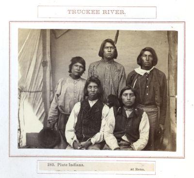 Piute Indians At Reno. # 283, Photograph
