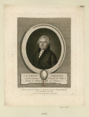 J.B. Choisy d'Arcefays cultivateur député des villes et bail.ge de Chalons sur Marne, né en 1742 à Sery en Champagne : [estampe]