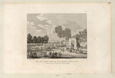 Fête des victoires, combat des jeunes élèves au Champ de Mars le 21 octobre 1794, ou 30 vendémiaire an 3.ème de la République : [estampe]