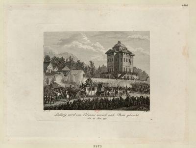 Ludwig wird von Varennes zurück nach <em>Paris</em> gebracht den 25 Juni 1791 : [estampe]