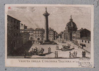 Piazza della Colonna Traiana, lato ovest