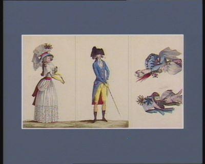[<em>Costumes</em> masculins et féminins, accessoires de mode pour 1787-1788] [estampe]
