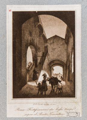 Ponte Nomentano, interno del cortile Turrito