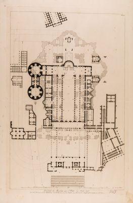Grundriss der Basilika von S. Peter im Jahr 1506