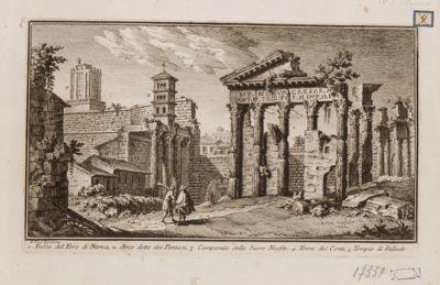 Fori di Augusto e di Nerva, Colonnacce, resti del tempio di Minerva e Marte