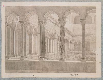 Chiesa di S. Giovanni in Laterano. Interno del Chiostro