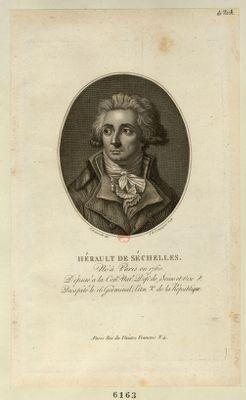 Hérault de Séchelles né à Paris en 1760, député a la Con.on nat.le dep.t de Seine et Oise, décapité le 16 germinal, l'an 2.<em>e</em> de la République : [estampe]