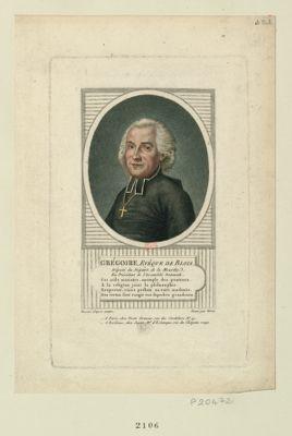 Grégoire, evêque de Blois député du départ. de la Meurthe, ex-president de l'Assemblée nationale... : [estampe]