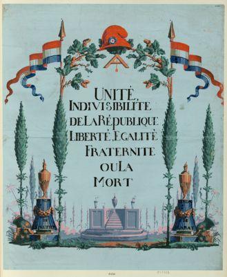 Unité, indivisibilité de la République liberté, égalité, fraternite ou la mort [estampe]