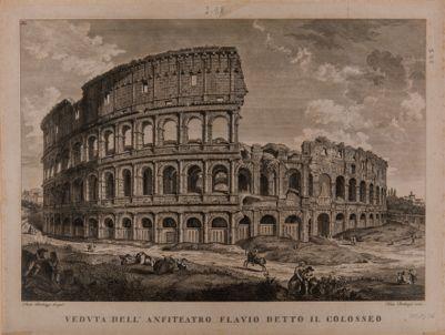 Colosseo visto dal podio del tempio di Venere e Roma