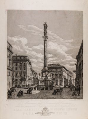Piazza di Spagna. Colonna commemorativa per l'Immacolata Concezione