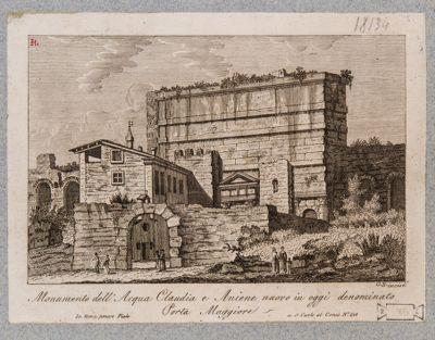 Porta Prenestina, veduta dall'interno