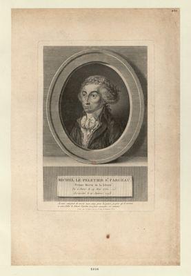 Michel Le Peletier St Fargeau, premier martir de la liberté [estampe]