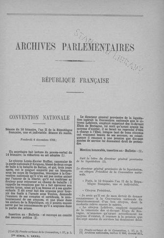 Tome 81 : Du 6 au 19 décembre 1793 - page 1
