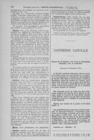Tome 81 : Du 6 au 19 décembre 1793 - page 102