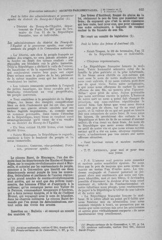 Tome 81 : Du 6 au 19 décembre 1793 - page 103