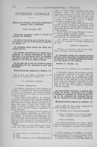 Tome 81 : Du 6 au 19 décembre 1793 - page 186