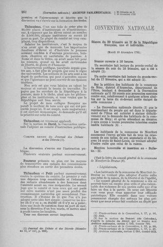 Tome 81 : Du 6 au 19 décembre 1793 - page 262