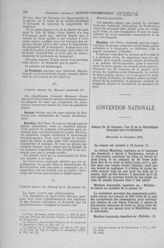 Tome 81 : Du 6 au 19 décembre 1793 - page 304