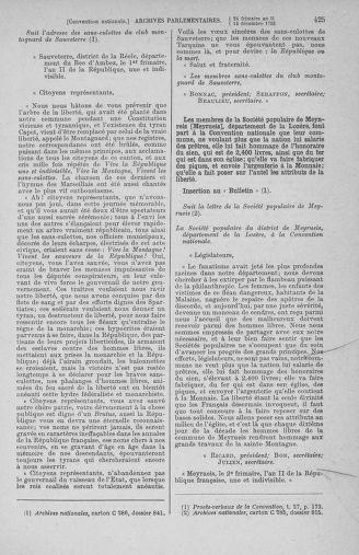Tome 81 : Du 6 au 19 décembre 1793 - page 425