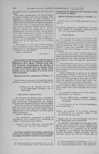 Tome 81 : Du 6 au 19 décembre 1793 - page 434