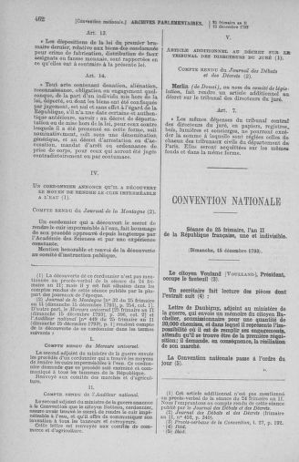 Tome 81 : Du 6 au 19 décembre 1793 - page 462