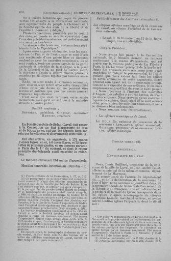 Tome 81 : Du 6 au 19 décembre 1793 - page 684