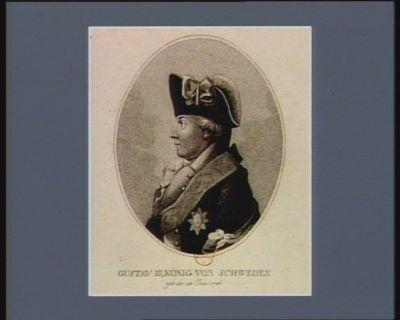 Gustav III, König von Schweden geb. de. 24 Jan. 1746 : [estampe]