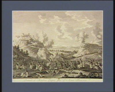 Bataille de Mondovi gagnée par l'armée française commandée par le général en chef Bonaparte, contre l'armée autrichienne commandée par le général en chef Beaulieu, le 3 floréal an 4 (<em>1796</em> v.s.) : [estampe]