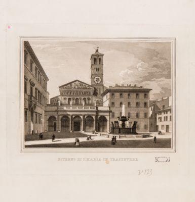 Chiesa di S. Maria in Trastevere, esterno con la piazza