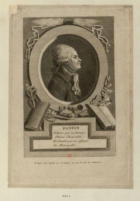 Danton Voltaire par ses ouvrages Obtient l'immortalité Et Danton par nos suffrages La municipalité : [estampe]