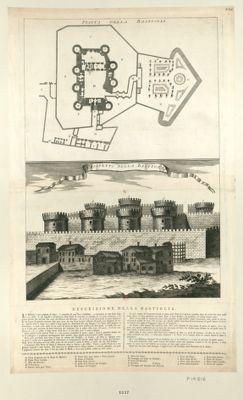 Pianta della Bastighia prospetto della Bastiglia... : [estampe]