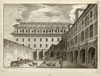 Prison des Magdelonnetes devenue maison d'arret sous la tirannie de Roberspiere l'an 1794 2.eme de la Rep. franc [estampe]