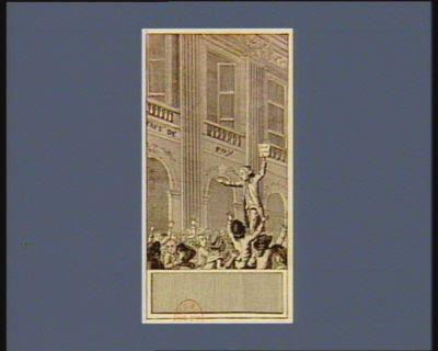 [Les  Arcades du café de Foy] [Camille Desmoulins au Palais Royal] : [estampe]