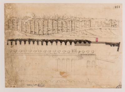 Pincio. Mura Aureliane, restauro