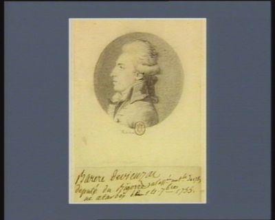 Barère de Vieuzac député du Bigorre à l'Ass.ée nat.le de 1789, né à Tarbes le 14 7.bre 1755 : [dessin]