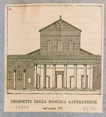 Chiesa di S. Giovanni in Laterano, facciata antica