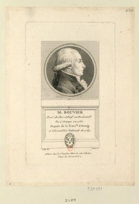 M. Bouvier proc.r du Roi et prof.r en droit civil né à Orange en 1760 député de la princi.te d'Orange à l'Assemblée nationale de 1789 : [estampe]