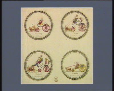 Tape-culp a l'italienne Faéton a l'angloise ; Wouiscki a la françoise ; Cariole aux Tieres etats : [estampe]
