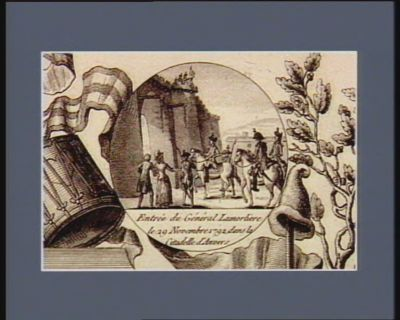 Entrée du général Lamorliere le 29 novembre 1792 dans <em>la</em> citadelle d'Anvers [estampe]