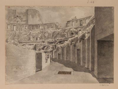 Colosseo, interno. Disegno preso dal piano del 2° ordine di arcate