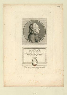 C. Mesnard prieur-curé d'Aubigné né à Mars près Angers le 14 mai 1732 député de la séné.ssée de Saumur à l'Assemblée nationale de 1789 : [estampe]