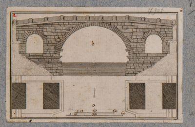 Ponte Cestio, alzata e pianta