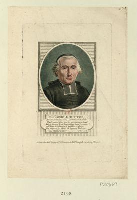 M. L'abbé Gouttes ancien président de l'Assemblée nationale... : [estampe]