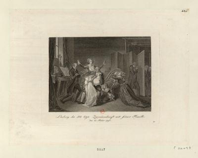 Ludwig des XVI letze Zusam[m]enkunft mit seiner Famille [estampe]
